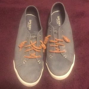 Sperry Top Sider Suede Blue size 6.5